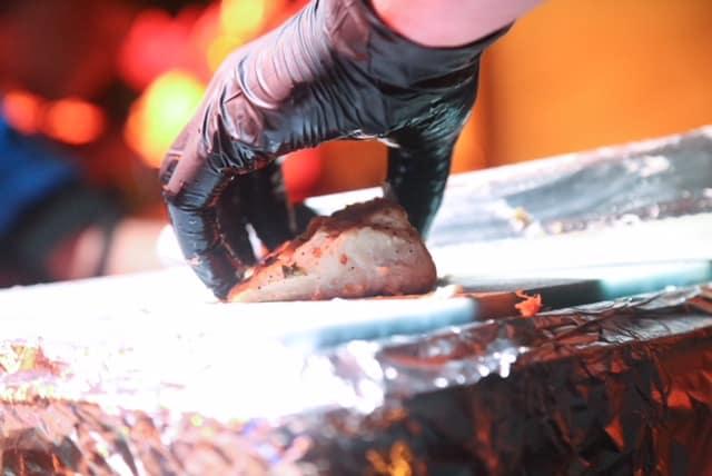 Aangesneden tonijn